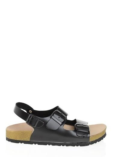 D by Divarese Hakiki Deri Sandalet Siyah